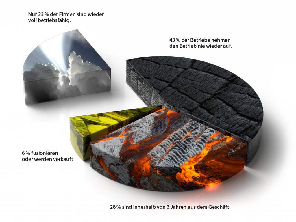 Folgen eines Brandereignis (Tortengrafik)
